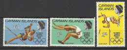 CAYMAN ISLANDS OLYMPIC GAMES MEXICO 1968 SET MNH - Zomer 1968: Mexico-City