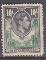 Northern Rhodesia, George VI, 1938 10/=, Fiscally Used - Northern Rhodesia (...-1963)