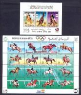 Libya 1988 - Two Minisheets - Phila Korea, Riding In Jamahiriya & Seoul Olympic Games - Libyen