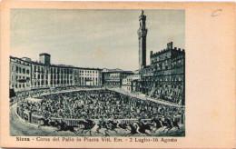 SIENA - Corsa Del Palio In Piazza Vittorio Emanuel - Siena