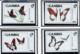 (cl 31 - P26) Gambie ** N° 536 à 539 - Papillons - Gambia (1965-...)