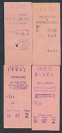 QY2498 SNCF 4 Billets Chaville RD Versailles RD Invalides Rueil Malmaison - Abonnements Hebdomadaires & Mensuels