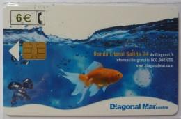 SPAIN - Chip - 6 Euro - Diagonal Mar Centre - 06.02 - CP-254 - Mint Blister - Conmemorativas Y Publicitarias