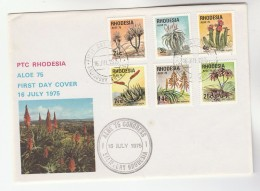 1975 RHODESIA FDC Stamps ALOE Cover Flower Flowers - Rhodesia (1964-1980)