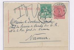 Carte-Lettre Petit Albert + TP Pellens ( Hors Cours) FLOREFFE 1920 Vers NAMUR - Taxée 0.10  --  XX579 - Enteros Postales