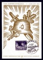 Mi. Nr. 811 AufPostkarte Tag Der Briefmarke 11. Januar 1942 - Germania