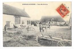DOMPIERRE-SUR-BESBRE  (cpa 03)  Ferme Bourbonnaise -  Vaches - Chars à Foin -   - L 1 - Francia
