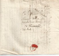 7  BOUILLON , Marque Linéaire Noire  Du  28 Octobre 1812. - 1815-1830 (Dutch Period)