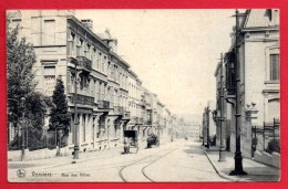 Verviers. Rue Des Villas. Café , Billards Jules Petit. Calèches. Voies De Tram. Pub. Farine Lactée Renaux - Verviers