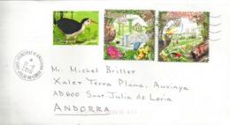 Oiseaux De Singapour, Sur Lettre Singapore Adressée ANDORRA, Avec Timbre à Date Arrivée - Singapur (1959-...)