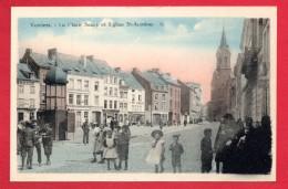Verviers. Place Saucy Et église Saint. Antoine. Café De La Place. Restaurant, Buvette A Mô L'Gilles - Verviers