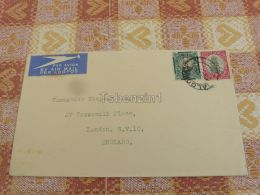 Balgowan Suid Afrika South Africa London England Umschlag Envelope AIR MAIL LUFTPOST - South Africa (1961-...)