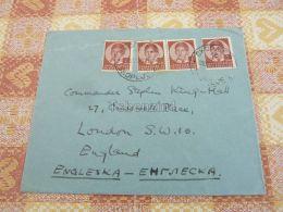 Szkopje Skopje Skoplje Macedonia Jugoslavija London England Kuvert Envelope - Mazedonien