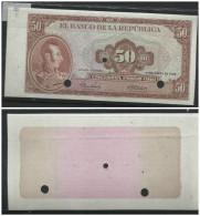O) 1964 COLOMBIA, ERROR PROOF, BANKNOTE 50 PESOS ORO-CINCUENTA PESOS, GENERAL MARSHAL ANTONIO JOSE DE SUCRE, XF - Colombia
