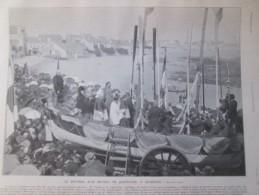 1906 Le Bapteme  D Un Bateau  De Sauvetage à QUIBERON   1  Grande  Photo +famille Imperiale Russe - Vieux Papiers