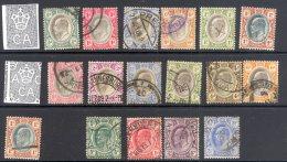 TRANSVAAL, 1902-08 Edward VII (various Wmks) FU, Cat £52 - Zuid-Afrika (...-1961)