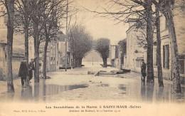 CPA 94   ST MAUR INONDATIONS AVENUE DU RAINCY  1910 - Saint Maur Des Fosses