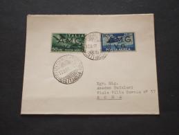 TRIESTE - AMG-VG - Busta Affrancata Con P.A. Democratica L.25 Azzurro E L.50 - TIMBRATI/USED - Storia Postale