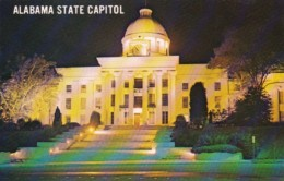 State Capitol Building At Night Montgomery Alabama