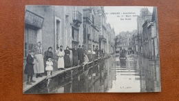 ANGERS 49 Inondation Du 1er Mars 1910 RUE MAILLE CPA Animee Postcard - Angers
