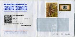 B193 2007 Busta Con 0,65€ Benedetto XVI (2005) + 0,60€ Posta Prioritaria - 6. 1946-.. Republic