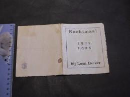 NACHTMAAL 1927/1928 - BIJ LEON BECKER - Menus