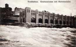 TROLLHÄTTAN (Schweden) - Kraftstationen Och Helvetesfallet, Gel.1913 - Schweden