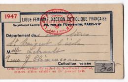 ST MAIXENT L'ECOLE. - Carte De La LIGUE FEMININE D'ACTION CATHOLIQUE FRANCAISE - Cartes