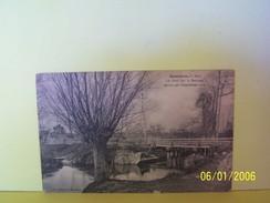 MESNIERES (SEINE MARITIME) LE PONT SUR LA BETHUNE DETRUIT PAR L'INONDATION 1910 - Mesnières-en-Bray