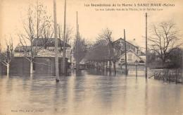 CPA 94  ST MAUR LA RUE LABATTU VUE DE LA MARNE INONDATIONS 1910 - Saint Maur Des Fosses