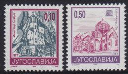 4. Yugoslavia, 1994, Definitive - Monasteries, MNH (**) Michel 2686-2687 - 1992-2003 Federal Republic Of Yugoslavia