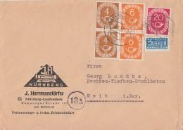 Bund Brief Mif Minr.2x 124, 2x 126, 130 Nürnberg - BRD