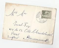 1955 Crans SWITZERLAND Stamps Cover To GB - Switzerland