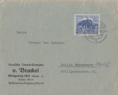 DR Brief EF Minr.737 Königsberg - Briefe U. Dokumente