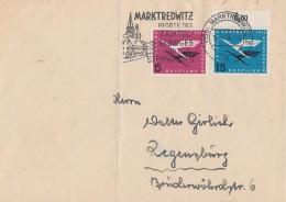 Bund Brief Mif Minr.205, 207 OR Marktredwitz 19.12.56 - BRD