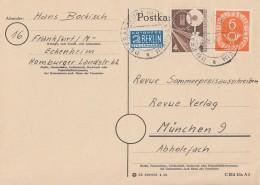 Bund Karte Mif Minr.126,167 Frankfurt 25.8.53 - BRD