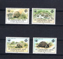 8597 Seychellen Aussenseychellen Mi 104-107 ** Turtles WWF - W.W.F.