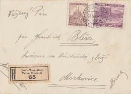 BM R-Brief Mif Minr.29, 33 Groß-Meseritsch 23.4.41 - Besetzungen 1938-45