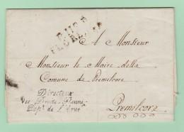 Dép.3 Départements-Conquis   PP 112 FLORENCE 4.6.1810 + Directeur Des Droits Réunis. Dép De L'Arno + En-tête. - Marcofilie (Brieven)