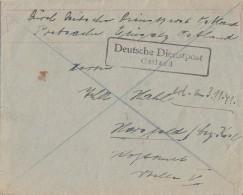 DR Brief Postsache Dt. Dienstpost Ostland Gel. Nach Hersfeld - Besetzungen 1938-45