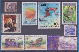 LOT OF USED STAMPS    ANIMALES  ANIMALS CARS  COCHES PAISES  COUNTRIES VARIOS  VARIOUS   S-1488 - Postzegels