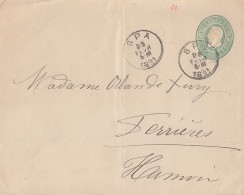 Belgien GS-Umschlag Spa 25.2.1891 - Briefumschläge