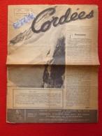 CORDÉES JOURNAL 1945 JEAN MAUDUIT N° 1 BLOC TIMBRES CACHET CHARLES DE GAULLE - Historical Documents