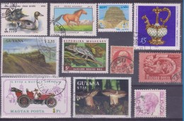LOT OF USED STAMPS    ANIMALES  ANIMALS CARS  COCHES PAISES  COUNTRIES VARIOS  VARIOUS   S-1490 - Postzegels