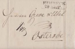Brief Gel. Von R2 Eimbeck 29.9.1831 Nach Osterode - Deutschland