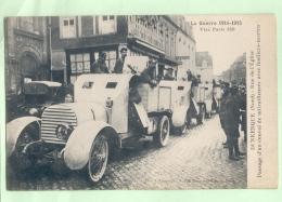 DUNKERQUE , Rue De L'Eglise, Passage D'un Convoi De Mitrailleuses Avec Fusiliers Marins - Dunkerque