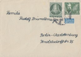 Berlin Brief Mif Minr.102, 117 Gel. Nach Berlin - Berlin (West)