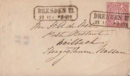 NDP Brief EF Minr.16 Dresden III. 21.6. - Norddeutscher Postbezirk