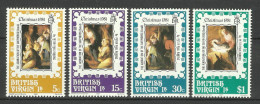 BRITISH VIRGIN ISLANDS  1981  CHRISTMAS SET MNH - Britse Maagdeneilanden