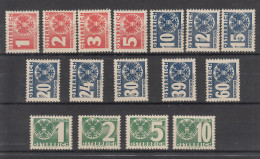 Austria, 1934 - ** Mi. 159/174 - Taxe